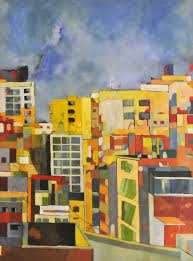 view of beirut Painting by josie gallagher | Saatchi Art