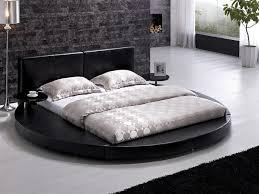 Black leather bed frame Headboard Amazoncom Modern Black Leather Headboard Round Bed Queen Tost009blkq