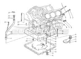 maserati 2 24v > engine order online eurospares maserati 2 24v fastening and block accessories diagram