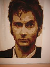 Koshka2 Quilts: Festival of Quilts 2013, NEC, Birmingham & Firstly, a portrait of David Tennant, all made from snippets of fabric.  AMAZING! Adamdwight.com