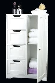 white wooden bathroom furniture. Free Standing Bathroom Storage White Furniture Freestanding Four Drawer Door Wooden Cabinet Cabinets W