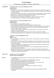 Account Representative Resume Patient Account Representative Resume Samples Velvet Jobs 1