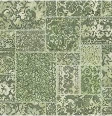 Bolcom Restored Vintage Carpet Groen Behang Vliesbehang Groen