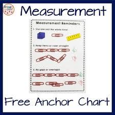 Ruler Anchor Chart Measurement Anchor Chart