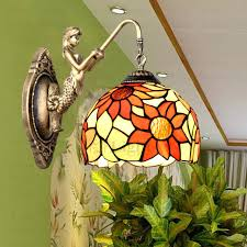 style stained glass pendant light hanging lamps for small lights