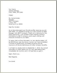 Job Acceptance Letter Template Letter Letter Templates