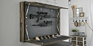 Hidden Gun Coat Rack Diy In Wall Gun Cabinet Home Design Ideas and Pictures 47