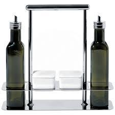 alessi ab trattore italian olive oil vinegar cruet set glass