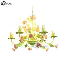 girls room lighting. full image for korean style 6 lights chandeliers led rose flowers leaves butterfly chandelier lamps indoor girls room lighting o