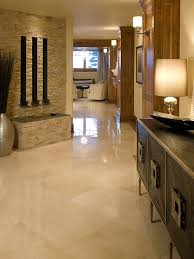 stacked stone w/ travertine floor - Ryan's Style for his new home.
