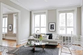 Walls In Light Grey Living Room