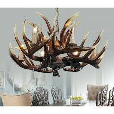 faux antler chandelier white retro base p