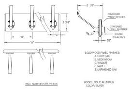 Hat and Coat Rack (various number of hooks and lengths available below)