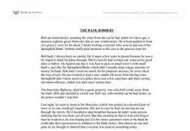 essay bank robbery   essay bank robbery