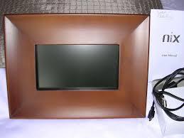 nix digital photo frame in wood unwanted gift wimborne dorset