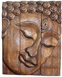 hand carved wooden thai buddha face wall art plaque hanging buddha panels teak wood on teak wall art panels with amazon hand carved wooden thai buddha face wall art hanging