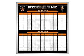 Blank Youth Football Depth Chart Depth Chart Boards Football Boards Schoolpride