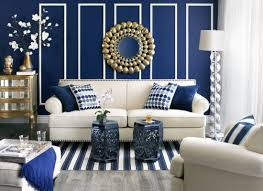 47 Beautifully Decorated Living Room DesignsNavy And White Living Room