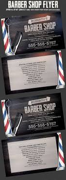 barber shop flyer template by hotpin graphicriver barber shop flyer template flyers print templates