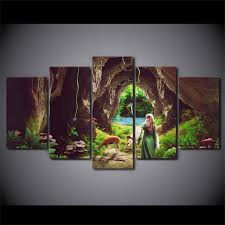 5 piece framed hd printed alice in wonderland movie canvas artwork modern painting poster picture for on alice in wonderland framed wall art with 5 piece framed hd printed alice in wonderland movie canvas artwork
