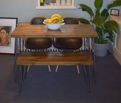 industrial kitchen table furniture. 140x7 Industrial Kitchen Table \u0026 Bench X 2 Chairs Mid Century Style Hairpin Leg Furniture