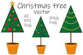 Set Christmas Trees Vector Illustration Graphic By Shishkovaiv Creative Fabrica