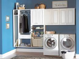 laundry room office design blue wall. Laundry Room Design Ideas. Blue Stain Wall With White Ceramics Floor Tile And S M L F Office