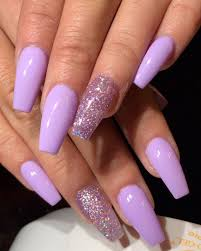 Acrylic Nail Designs Purple The Best Coffin Nails Ideas That Suit Everyone Glitter