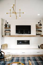 ... Best Tv Over Fireplace Ideas Above A Modern Farmhouse Update  Contemporary Designs Above Large Size ...