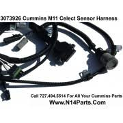 cummins engine wiring harnesses sensors solenoids 3073926 cummins l10 m11 celect prior to 1996 external engine sensor wiring harness