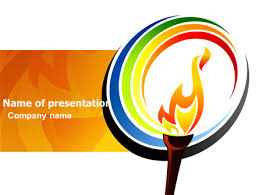 Olympic Fire Presentation Template For Powerpoint And