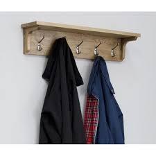 lyon oak hallway furniture rustic wall coat rack with 5 pegs