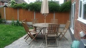 folding garden furniture argos chair cushions wooden set 6 seat patio table drop dead gorgeous