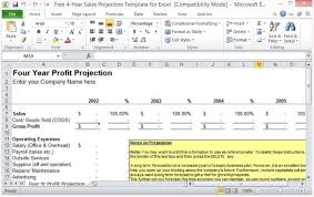 cost forecasting template free 4 year sales projection template for excel