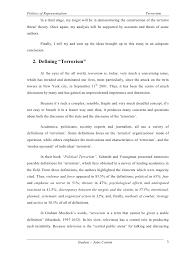 terrorism essay student joao cotrim 2 3 politics of representation terrorism