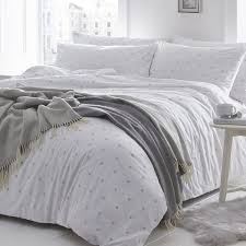 stars silver grey single duvet cover set