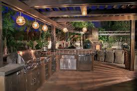 encinitas bbq island outdoor kitchen with lighting