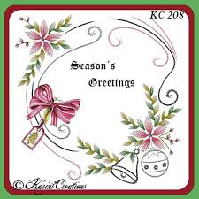 Christmas Swirls Karins Creations Kc Embroidery Pattern Christmas Swirls Ornaments