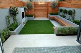 Small Picture Contemporary backyard design with artificial grass Free
