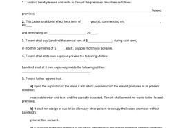 Document Template : Free Printable Residential Lease Agreement Form ...