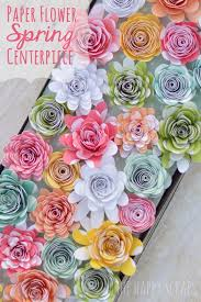 Paper Flower Cutter Paper Flower Spring Centerpiece From The Happy Scraps Pins I Love