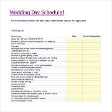 Wedding Day Timeline Excel Wedding Reception Timeline Template Shatterlion Info