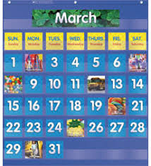 Monthly Calendar Pocket Chart By