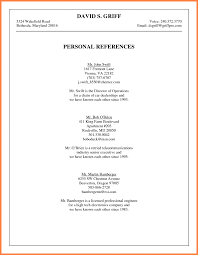Personal References Onme Letter Of Reference Valid Examples Letters