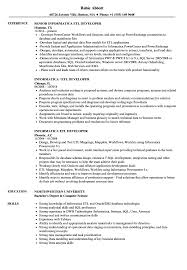 Informatica Sample Resumes Informatica ETL Developer Resume Samples Velvet Jobs 23