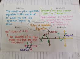 solve a quadratic equation frayer model