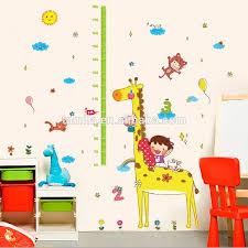 Giraffe Children Room Decor Height Stikers Kindergarten Height Growth Chart Wall Decals Kids Diy Sticker Buy Printable Wall Decal Sticker Cheap Kids