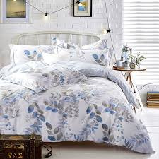 pattern bed sheets cozy popular leaves bedding set queen king size cotton print fabric baroque duvet
