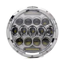 Fatboy Lights Amazon Amazon Com Turbo Sii Chrome 75w 7 Inch Round Led Headlight