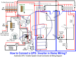 how to connect automatic ups inverter to the home supply system how to connect a ups inverter in home wiring